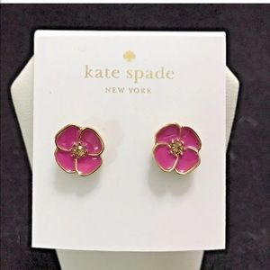 Kate Spade Flutter Floral Stud Earrings Snapdragon